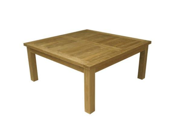 Low Square wooden garden side table TUBAN by Il Giardino di Legno