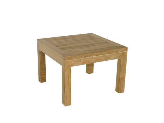 Low Square wooden garden side table SAVANA | Low garden side table by Il Giardino di Legno