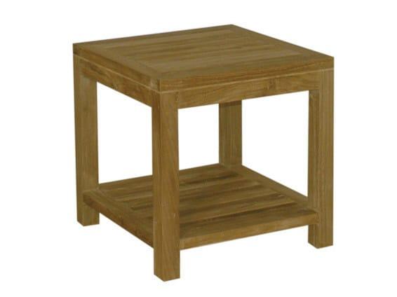 Savana Square Wooden Garden Side Table, Wooden Side Table For Garden