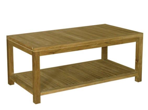 Rectangular wooden garden side table SAVANA   Rectangular garden side table by Il Giardino di Legno