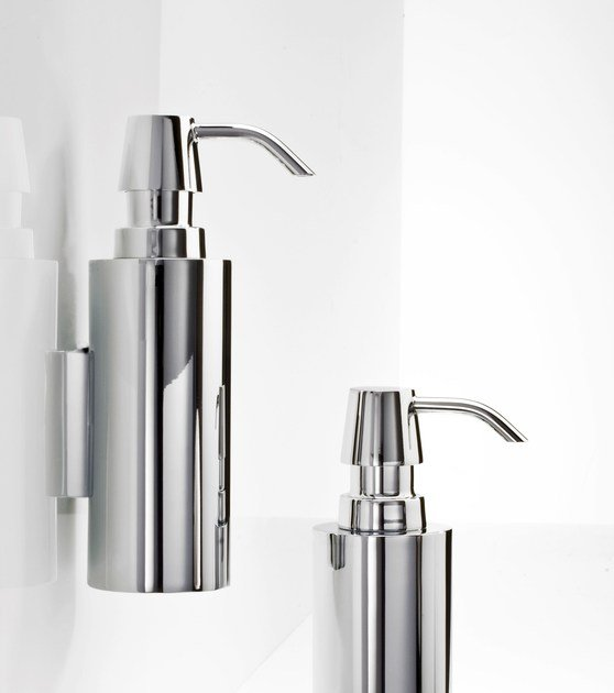 Wall-mounted chrome plated liquid soap dispenser DW 300 N by DECOR WALTHER