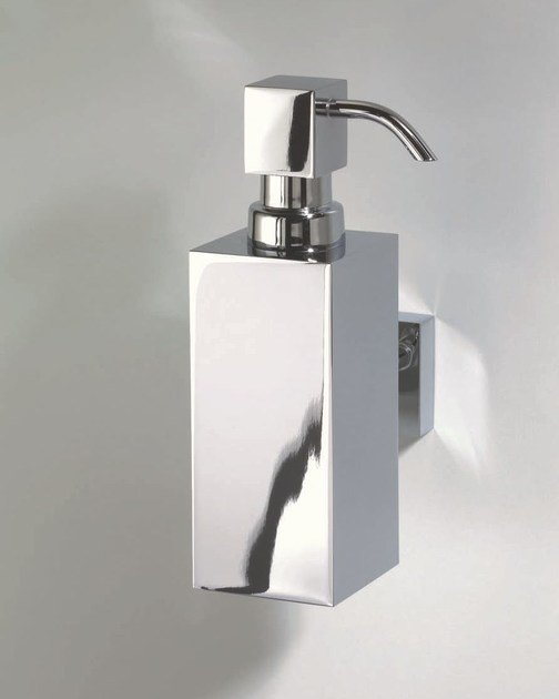Wall-mounted chrome plated liquid soap dispenser DW 375 N by DECOR WALTHER