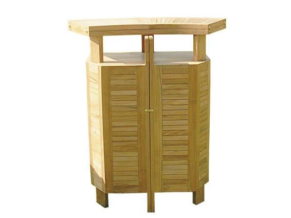 Outdoor teak bar cabinet BAR | Bar counter by Il Giardino di Legno