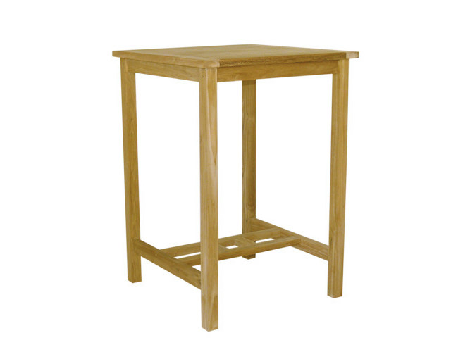 Square wooden high table BAR | Square garden table by Il Giardino di Legno