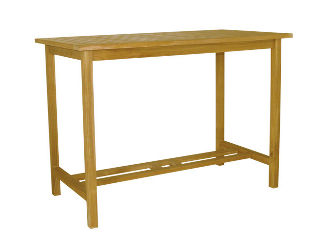 Rectangular wooden high table BAR | Rectangular garden table by Il Giardino di Legno