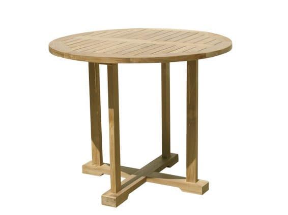 Round wooden garden table BRISTOL | Round garden table by Il Giardino di Legno