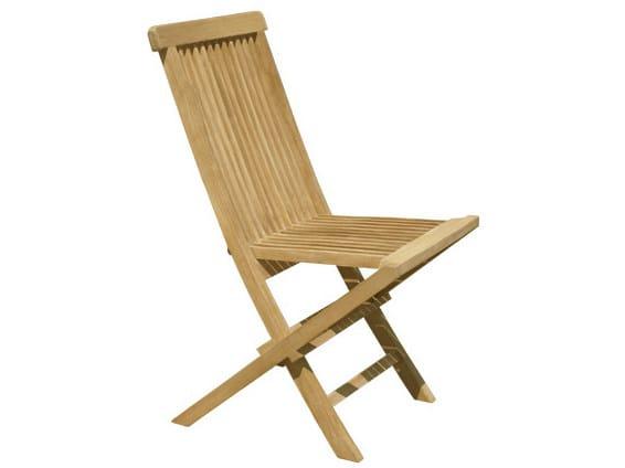 Folding wooden garden chair BRISTOL   Folding garden chair by Il Giardino di Legno