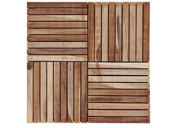 Wooden outdoor floor tiles TILES | Teak outdoor floor tiles by Il Giardino di Legno