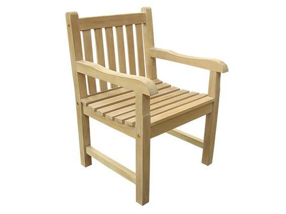 Sedie In Legno Giardino.Classica Sedia Con Braccioli By Il Giardino Di Legno