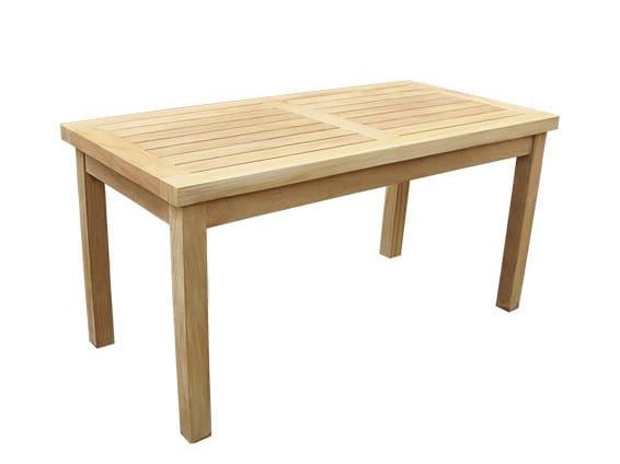 Rectangular wooden garden side table KUTA by Il Giardino di Legno
