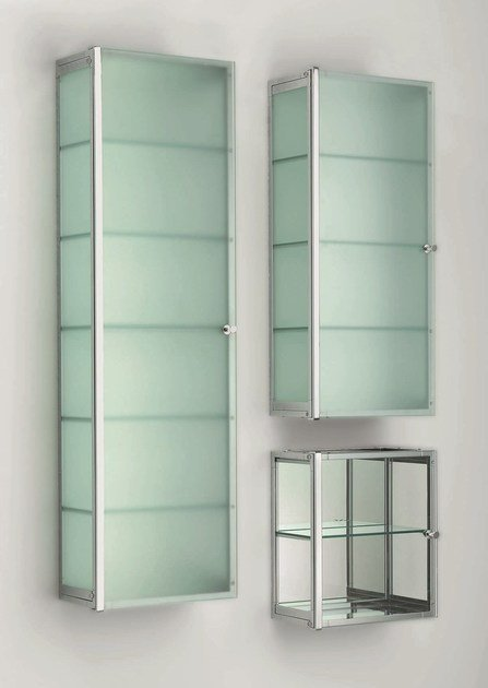 Glass wall cabinet with doors S by DECOR WALTHER
