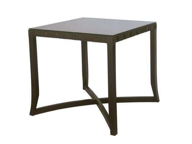Square synthetic fibre garden table KROSS   Garden table by Il Giardino di Legno