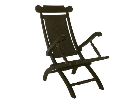 Teak deck chair with armrests BRITISH INDIA | Deck chair by Il Giardino di Legno