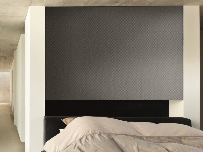 Ultra thin Techlam® wall tiles with metal effect COSMOS BLACK by Levantina