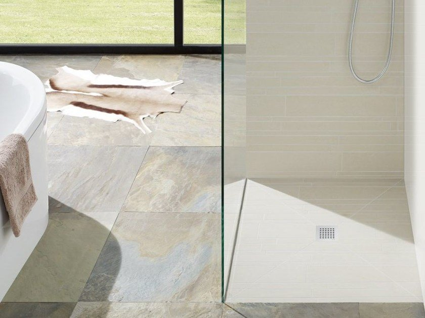 Flush fitting tiled extra flat shower tray FUNDO PLANO by Wedi Italia