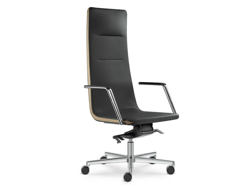 Height-adjustable swivel executive chair with armrests HARMONY | Executive chair with headrest by LD Seating