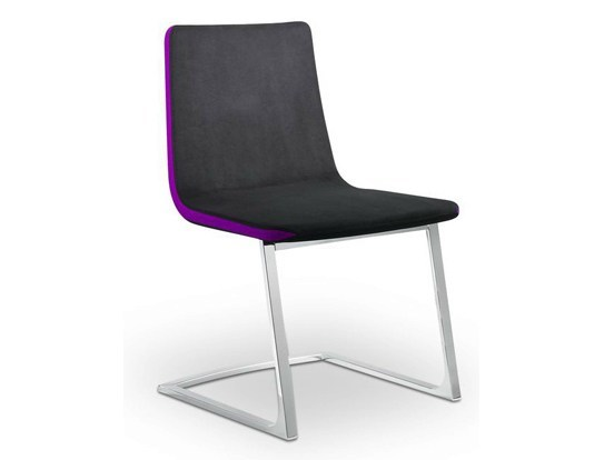 Cantilever leather visitor's chair HARMONY | Visitor's chair by LD Seating
