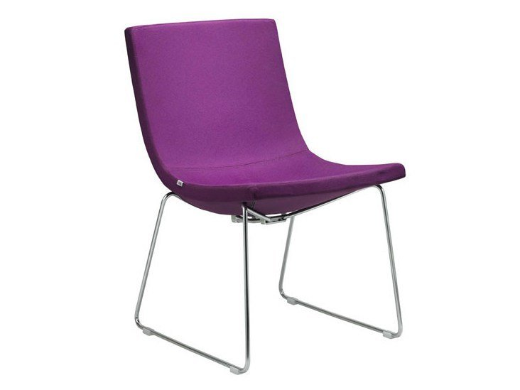 Sled base fabric easy chair MOON   Sled base easy chair by LD Seating