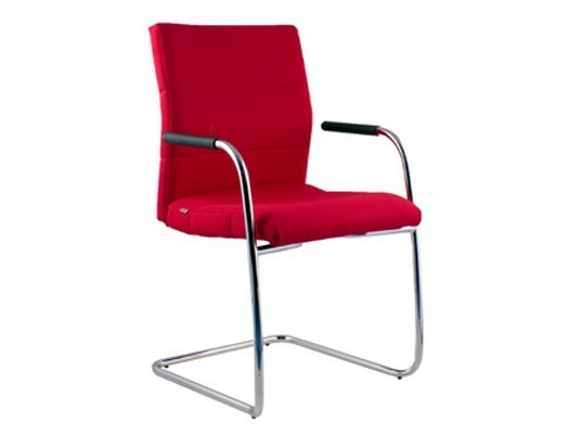 Cantilever leather visitor's chair with Armrests LASER | Cantilever visitor's chair by LD Seating