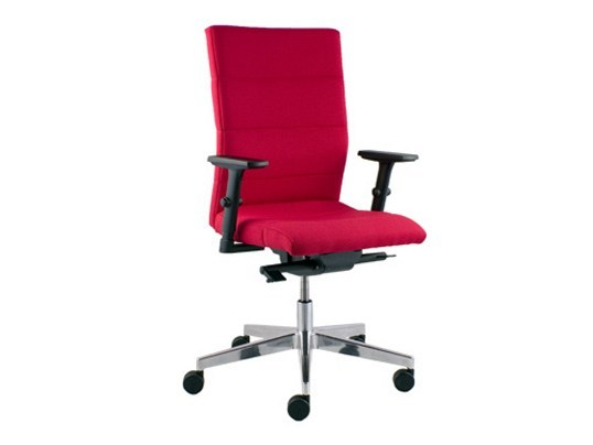 Height-adjustable ergonomic swivel task chair LASER | Task chair with 5-Spoke base by LD Seating