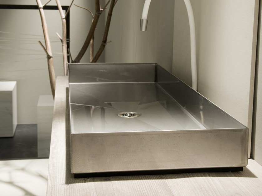 Countertop rectangular steel washbasin INDUSTRIAL LINE | Countertop washbasin by Moab80