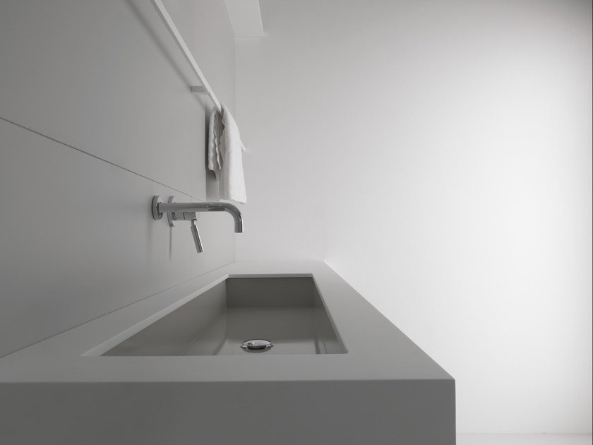 Rectangular undermount steel washbasin INDUSTRIAL LINE | Undermount washbasin by Moab80