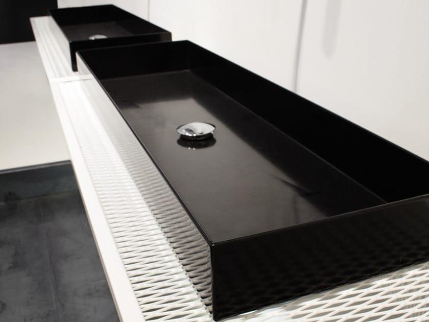 Double plate washbasin countertop INDUSTRIAL LINE | Washbasin countertop by Moab80