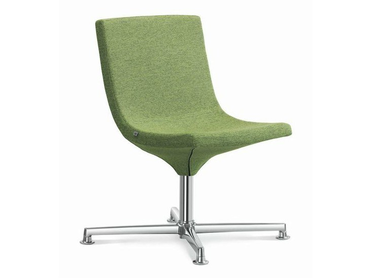 Fabric easy chair with 4-spoke base MOON | Easy chair with 4-spoke base by LD Seating