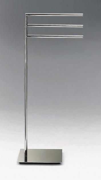 Standing chrome plated towel rack STRAIGHT 3 by DECOR WALTHER