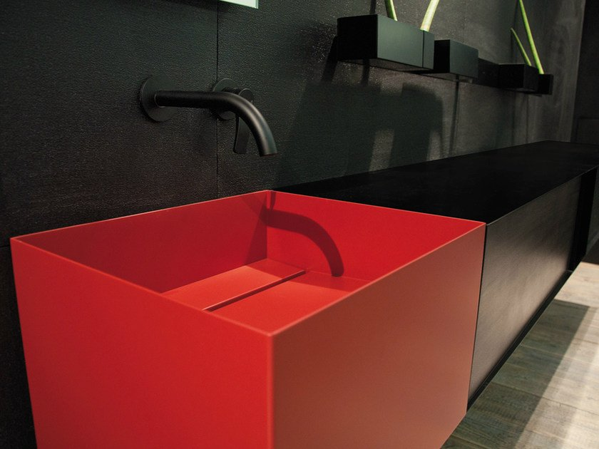 Rectangular plate washbasin ZERO20 | Washbasin by Moab80