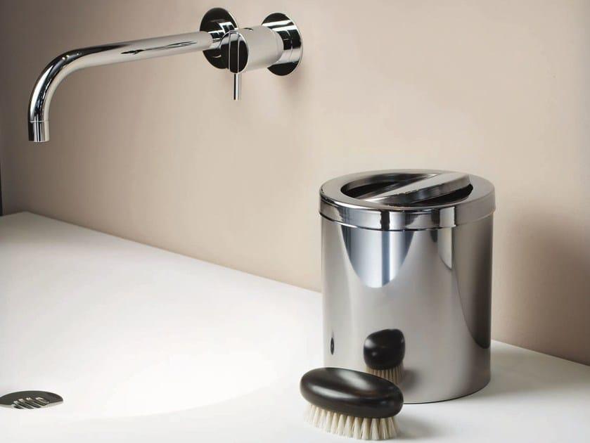 Steel bathroom waste bin DW 1240 by DECOR WALTHER