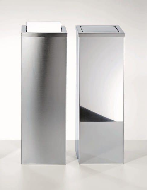 Steel bathroom waste bin DW 1013 by DECOR WALTHER