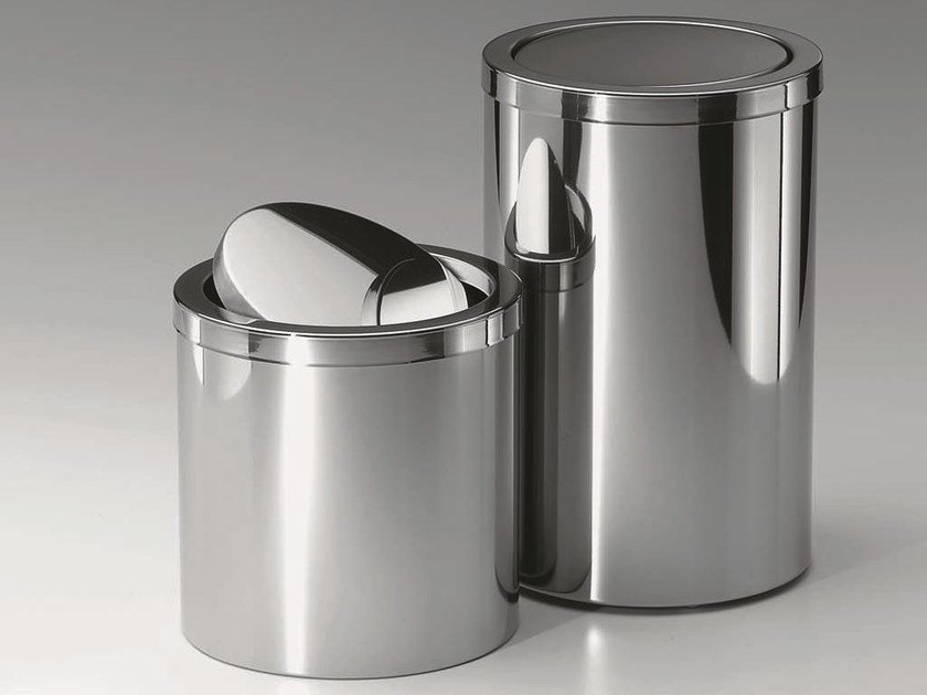 Steel bathroom waste bin DW 124 by DECOR WALTHER