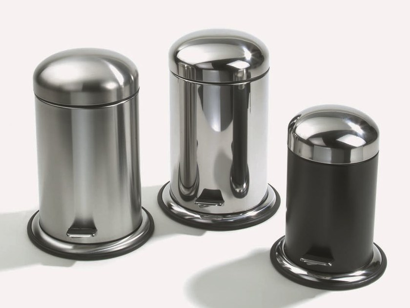 Steel bathroom waste bin TE 60 by DECOR WALTHER