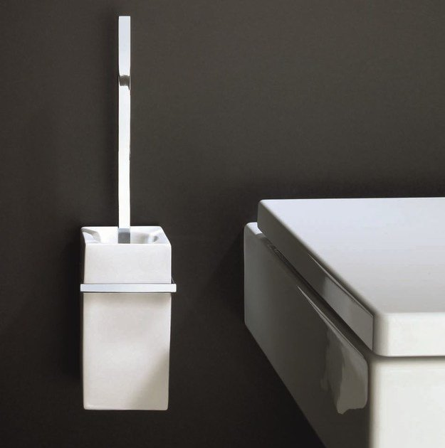 Wall-mounted chrome plated toilet brush DW 6203 by DECOR WALTHER