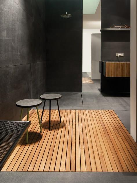 Piatto doccia in teak