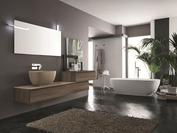 Wall-mounted vanity unit AB 6040 by RAB Arredobagno
