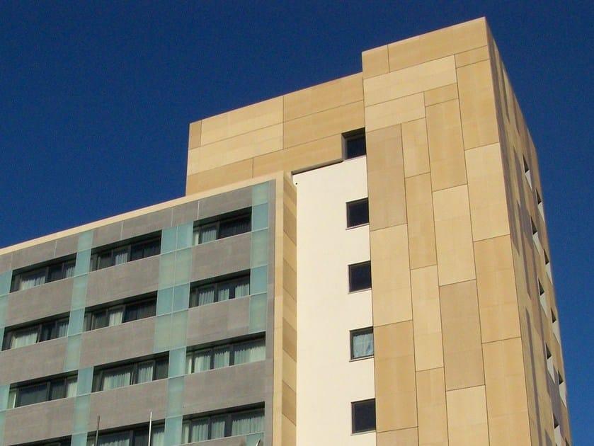 Fiber cement Continuous facade system PIZ Rock MetaBio H89 by PIZ