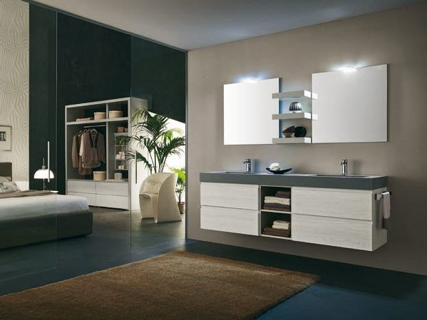 Wall-mounted vanity unit AB 6100 by RAB Arredobagno
