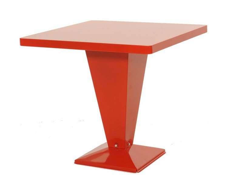 Square metal table KUB | Square table by Tolix