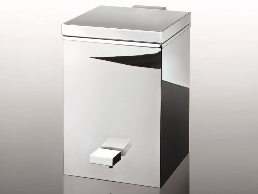 Chrome plated kitchen bin TE 75 | Waste bin by DECOR WALTHER