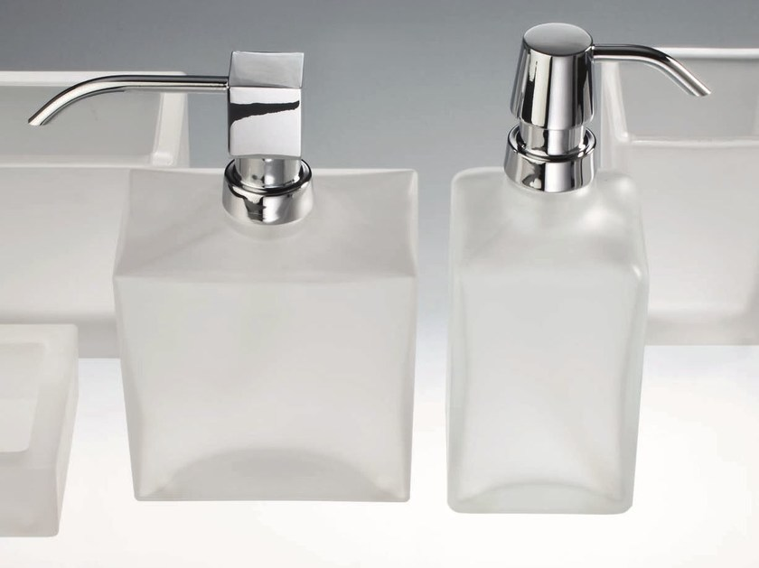Satin glass liquid soap dispenser DW 955 by DECOR WALTHER