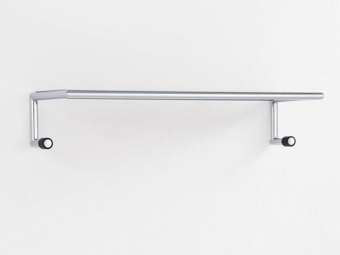 Wall-mounted chrome plated steel coat rack LINK by MOX
