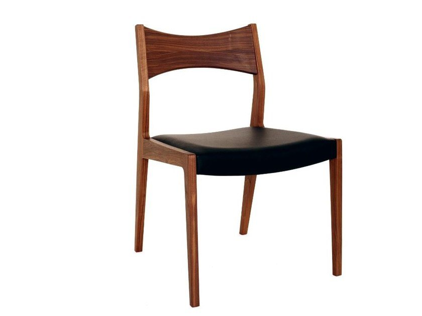 Upholstered walnut chair BAKER | Chair by Dare Studio
