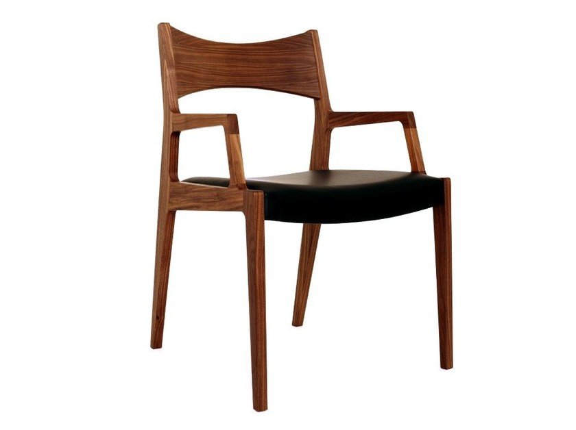 Upholstered chair with armrests BAKER | Chair with armrests by Dare Studio