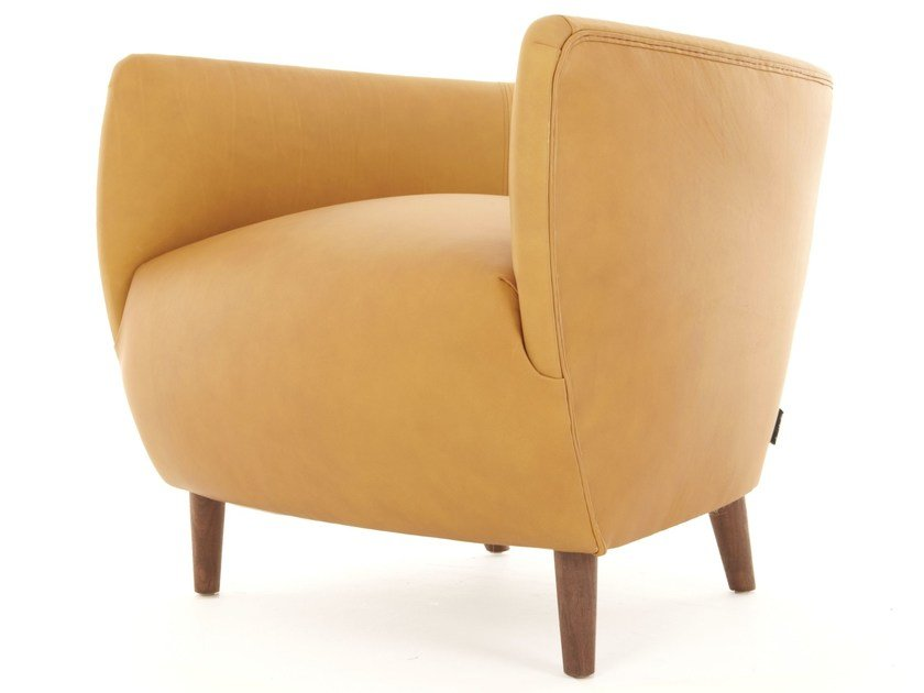 Upholstered armchair with armrests BRONTE | Armchair by Dare Studio