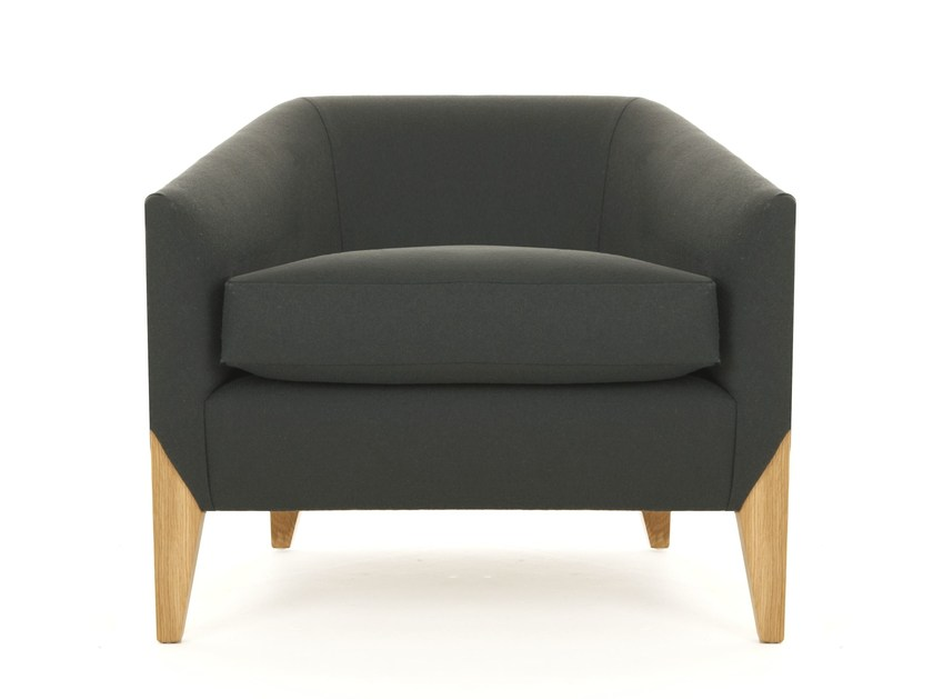 Upholstered fabric armchair with armrests ERNEST | Armchair by Dare Studio