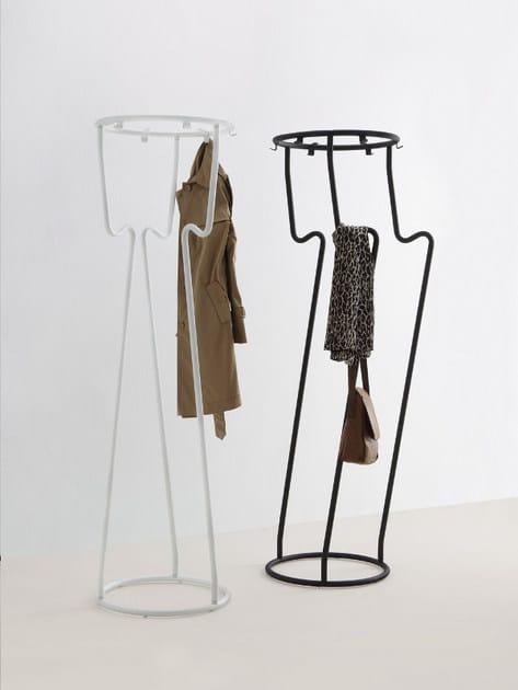 Powder coated steel coat rack MAGIC by MOX