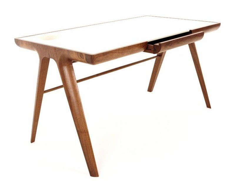 Walnut writing desk MAYA | Contemporary style writing desk by Dare Studio