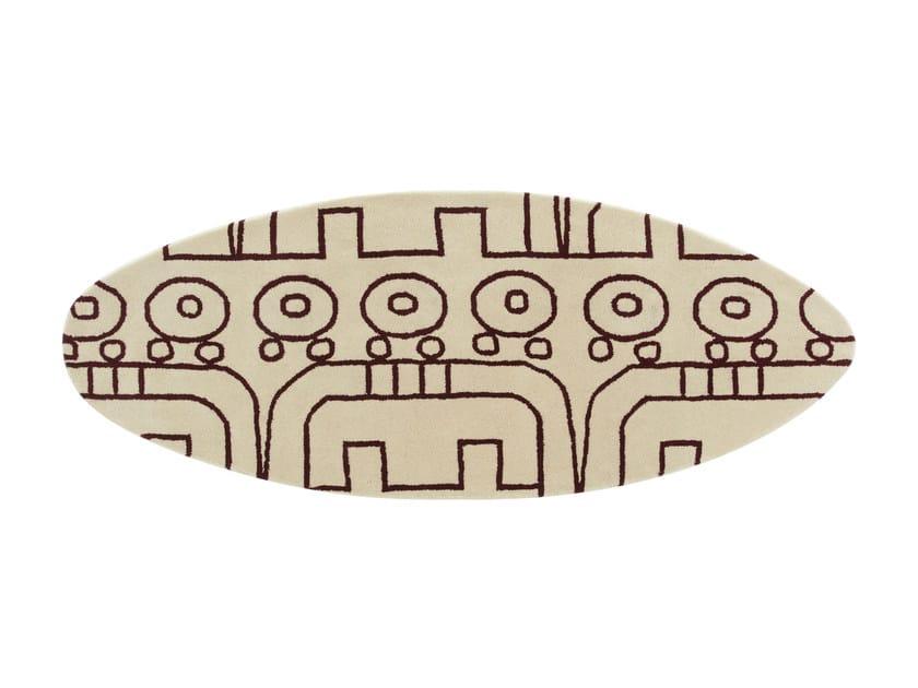 Handmade wool rug SURF MALIBÚ ATLANTICO by GAN